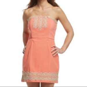🍀SALE🍀Coral Blakely Strapless Dress